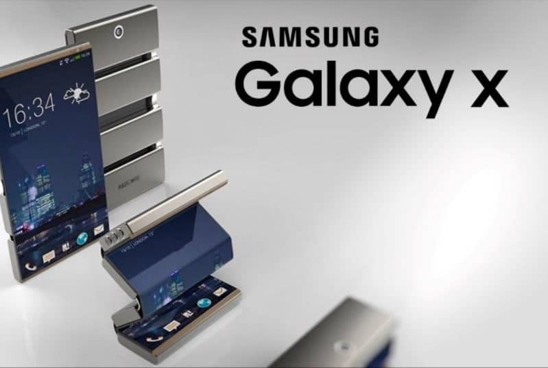 samsunt galaxy x smartphone pliable