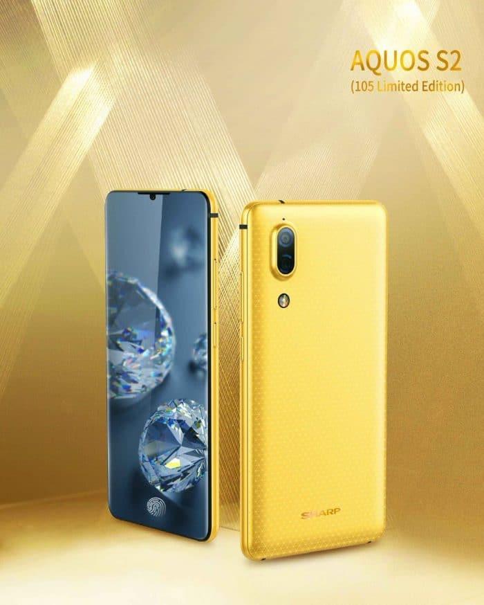 sharp aquos s2 écran 4K design borderless smartphone