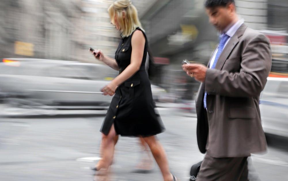 smartphone a modifié façon dont nous marchons