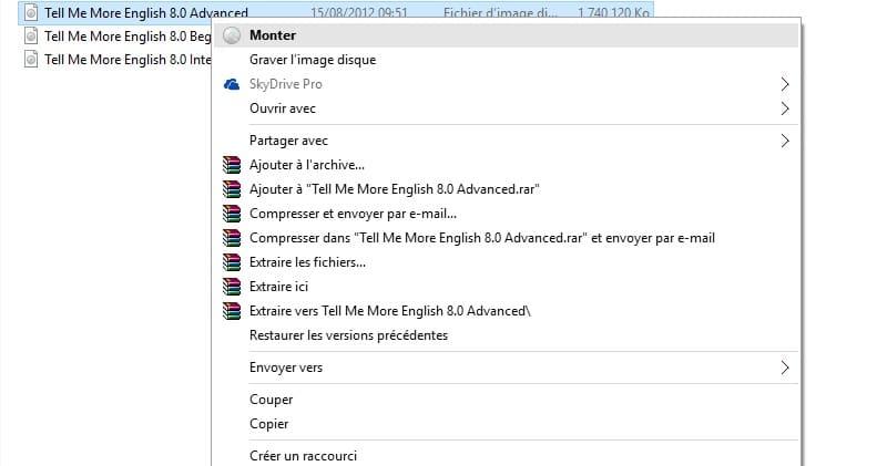 windows 10 comment monter d 233 monter ou graver un fichier iso sans application tierce