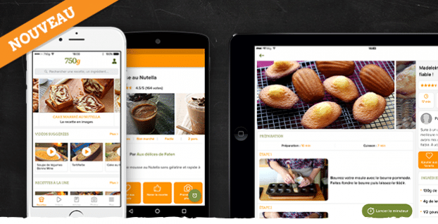 Top 7 des meilleures applications android de cuisine for Cuisine 750g