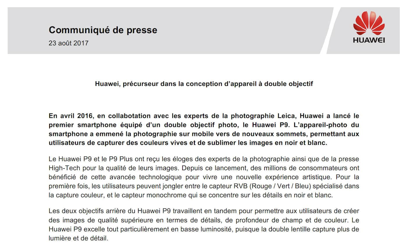 Extrait CP Huawei