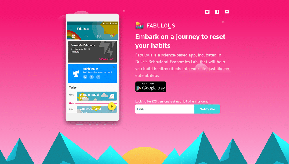 Fabulous : Motivate me android
