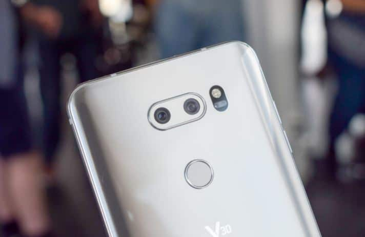 LG V30 double capteur photo