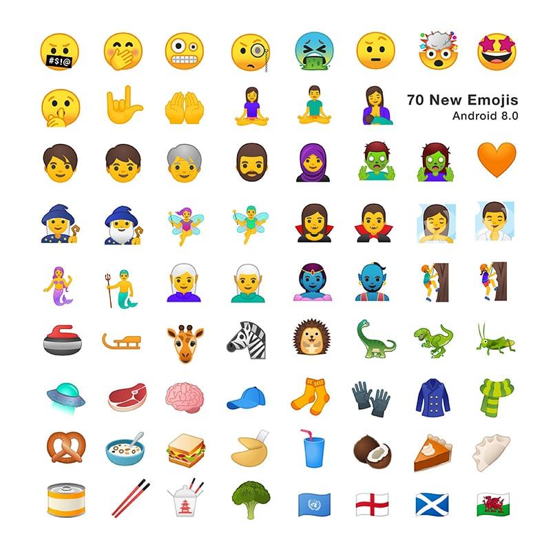 android 8.0 oreo google nouveaux emojis emojipedia