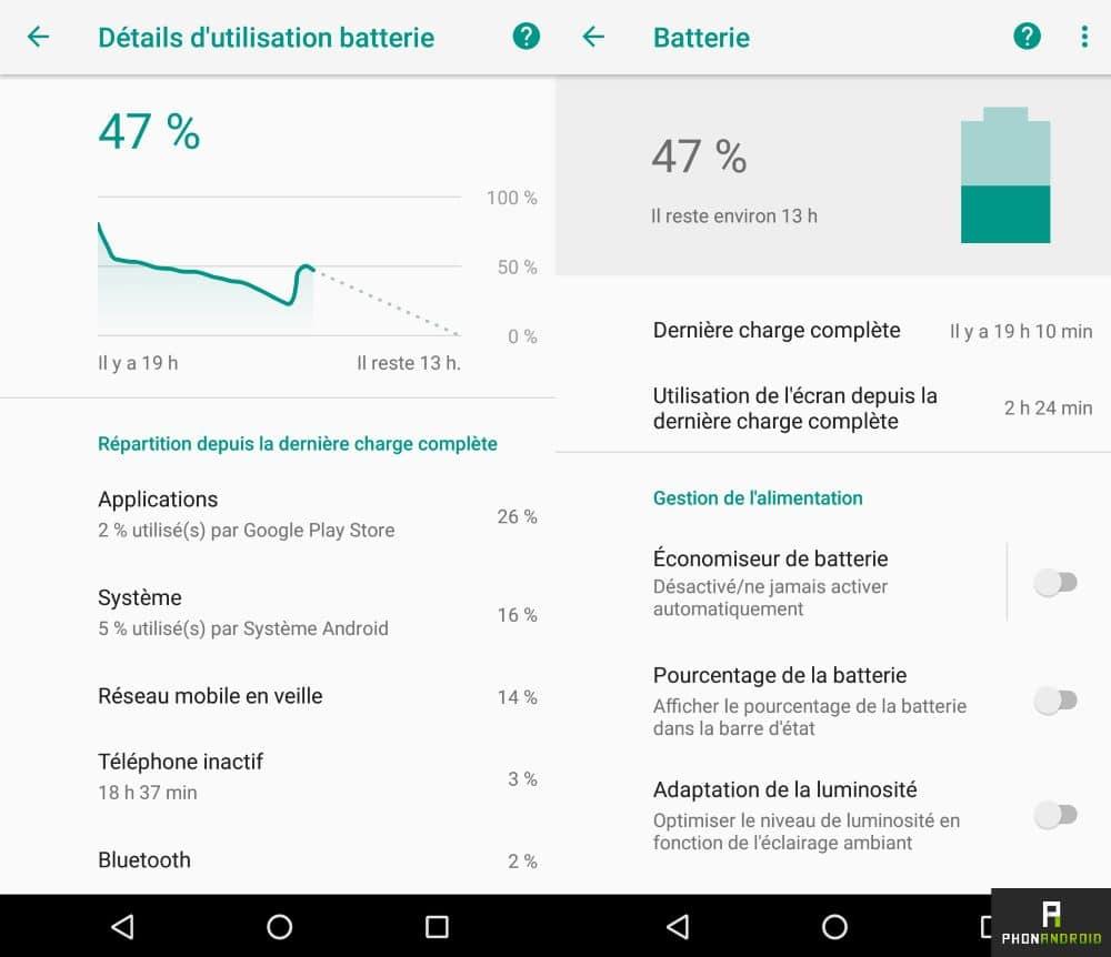 android 8 oreo autonomie