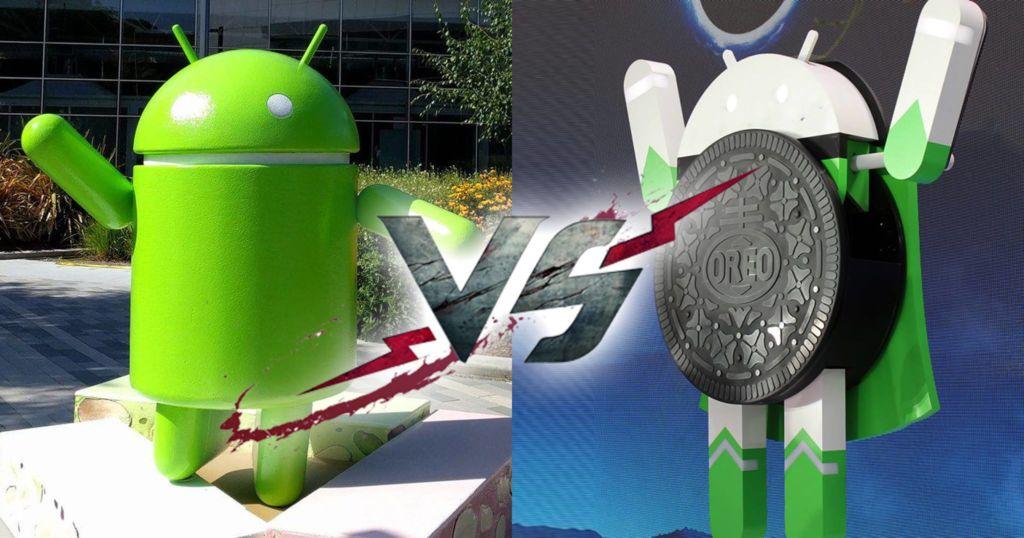 oreo vs nougat android