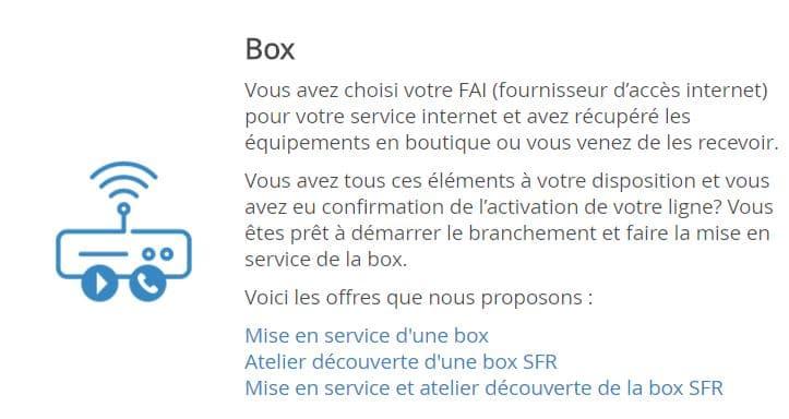 box sfr installation
