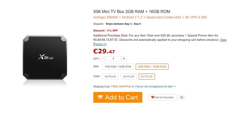box tv android x96 mini gearbest