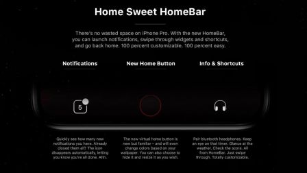 iPhone 8 homebar