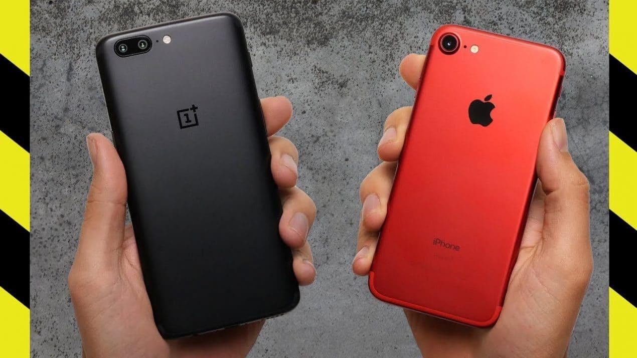 drop test iphone 7 vs oneplus 5
