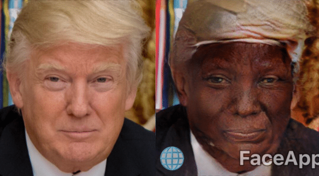 faceapp trump raciste