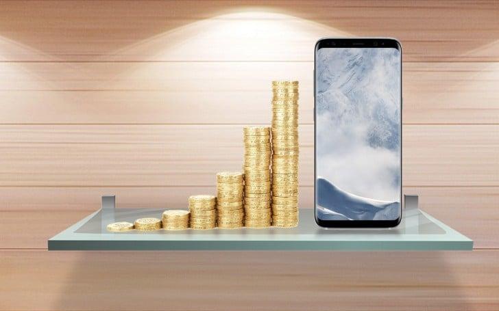 galaxy s8 prix moyen smartphones samsung