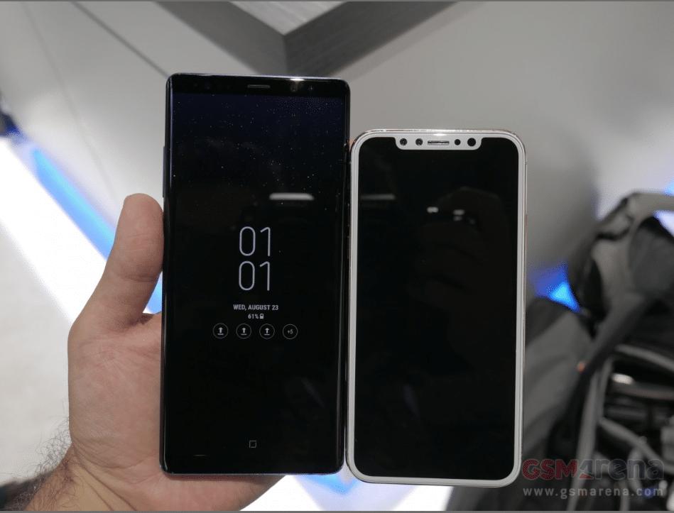 Galaxy note 8 vs iphone 8 le flagship de samsung compar - Difference entre note 3 et note 3 lite ...