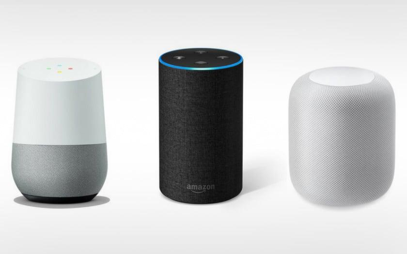 google home amazon echo apple homepod
