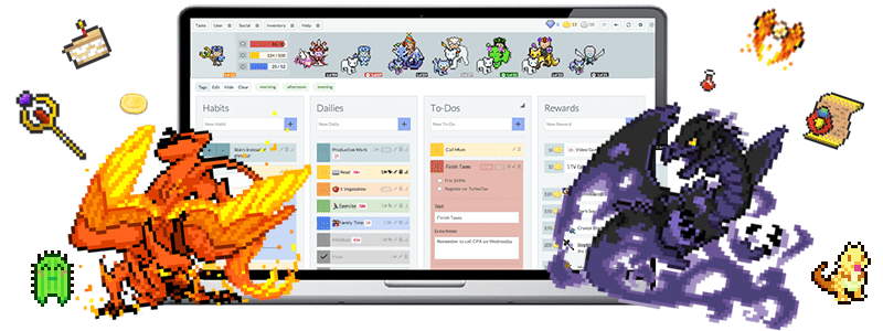 habitica atteindre ses objectifs android