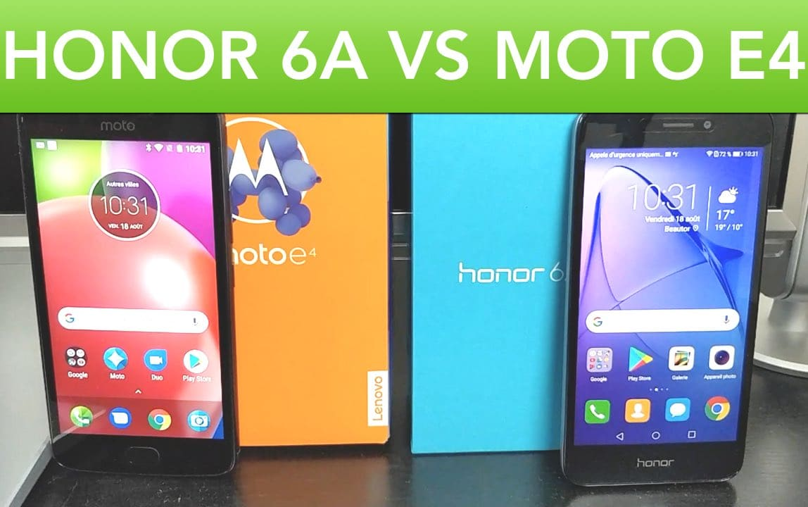 honor 6a vs moto e4