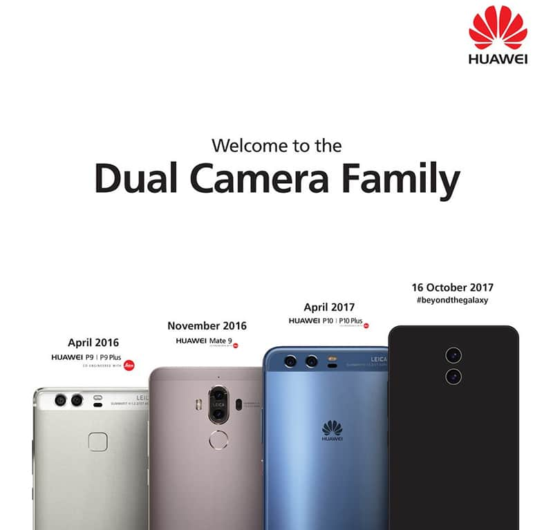 huawei mate 10 image officielle double capteur photo vertical