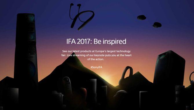 ifa 2017 sony