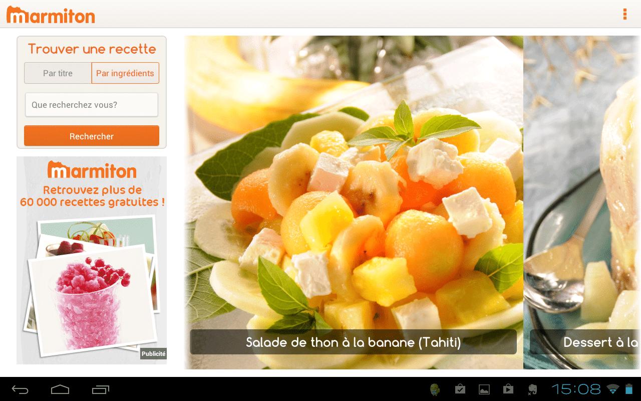 marmiton cuisine android