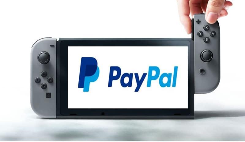 nintendo switch paypal banque en ligne moyen de paiement