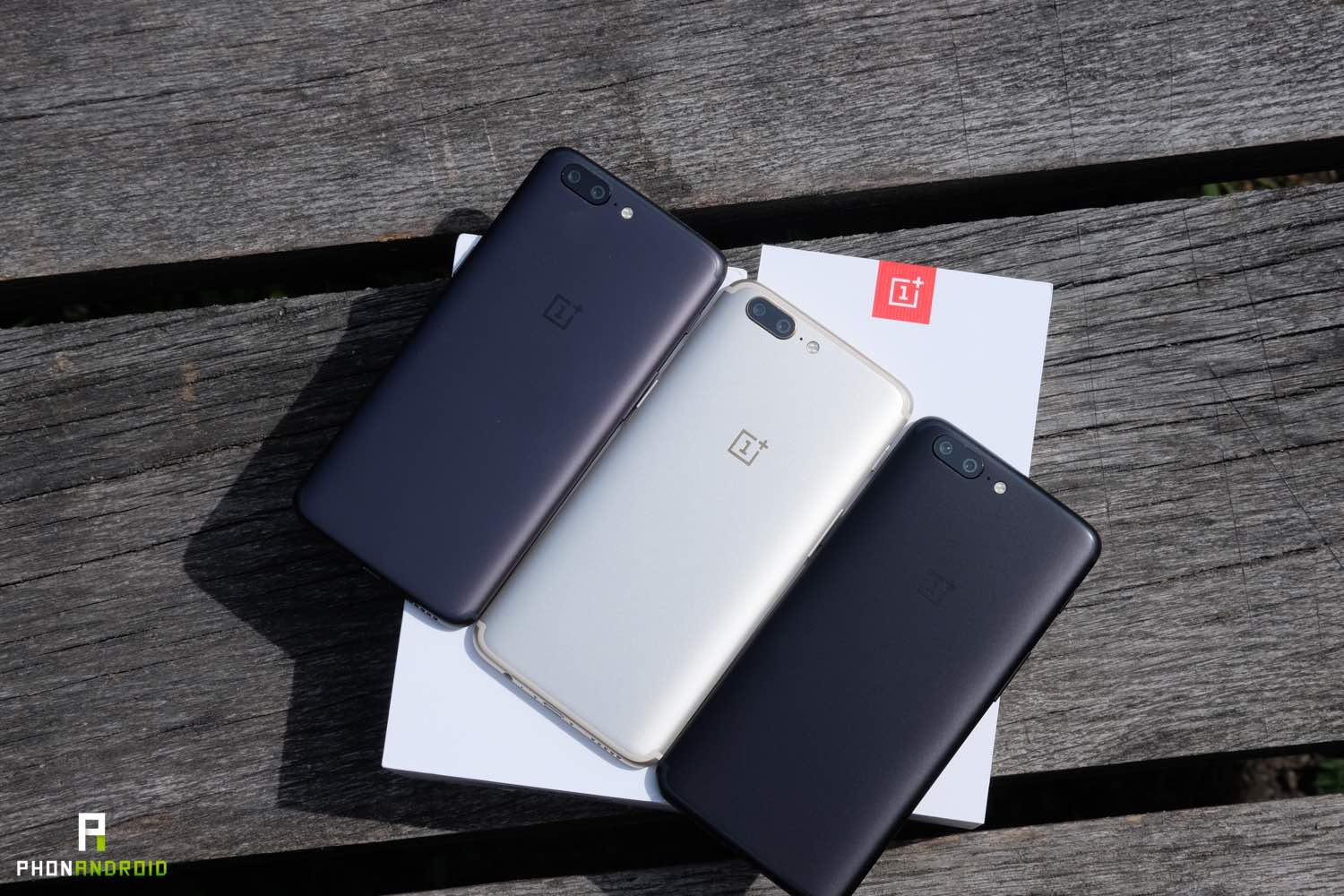 oneplus 5 comparatif coloris