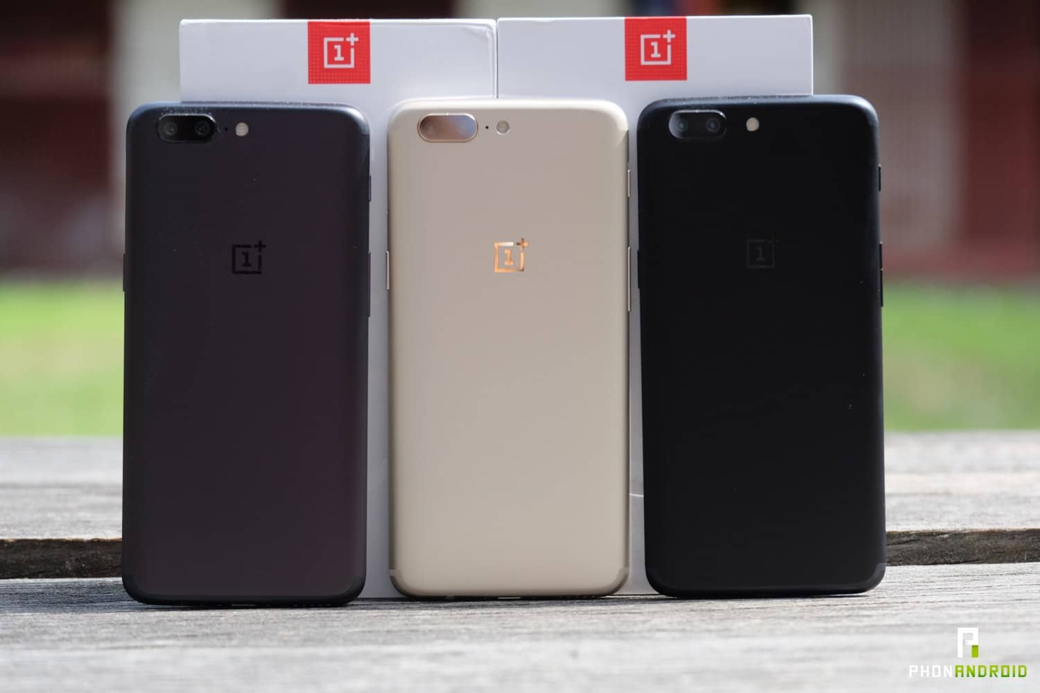 oneplus 5 comparatif couleurs