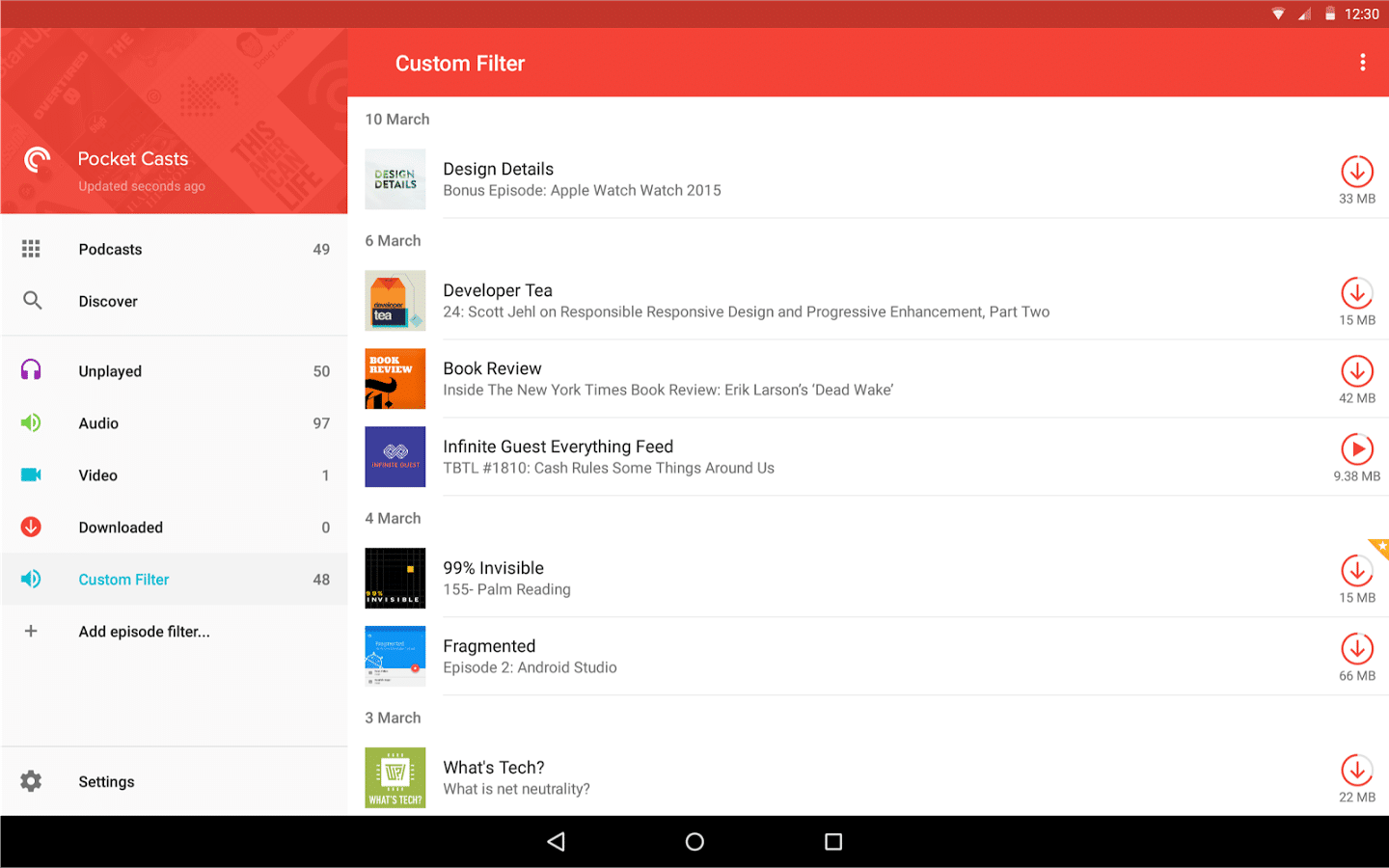 pocket casts chromecast android