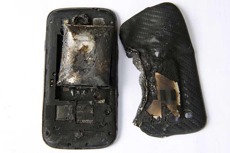 smartphone batterie explose