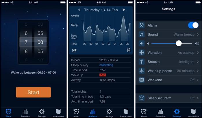 Cycle de sommeil suivi réveil tracker de sommeil