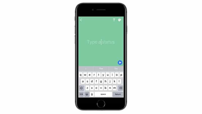 whatsapp fonction statut texte couleur arrière-plan