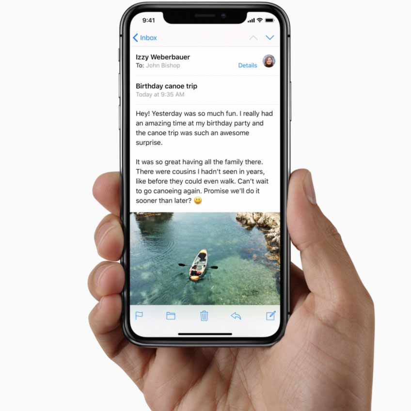 iphone x prise main journalites