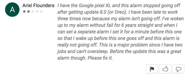 android oreo alarme