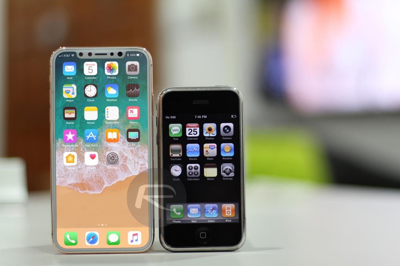 världens första telefon vs iphone x
