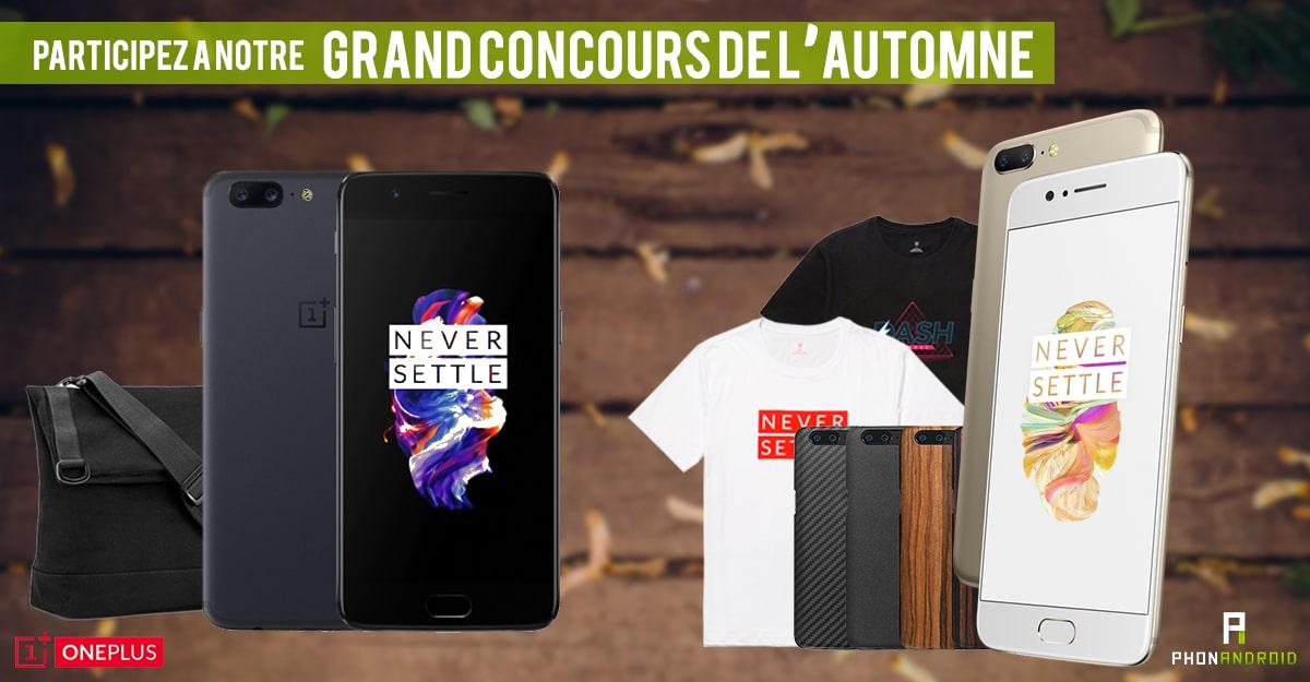 concours automne one plus 5