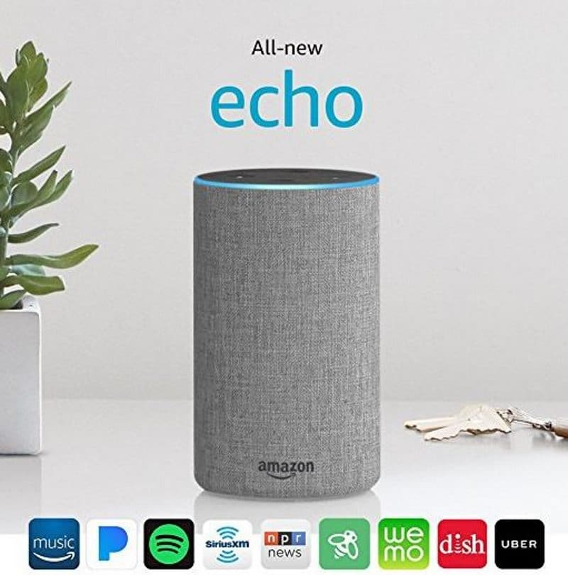 amazon echo une nouvelle enceinte connect e pour contrer le google home et l 39 apple homepod. Black Bedroom Furniture Sets. Home Design Ideas