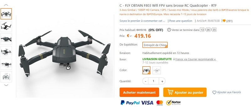 drone c-fly obtain f803
