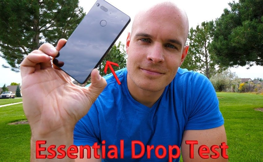 essential phone drop test