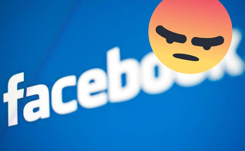 facebook colere