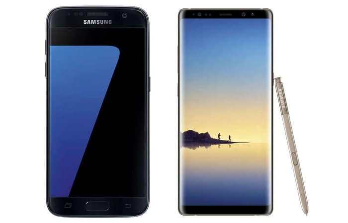 galaxy s7 + galaxy note 8 bon plan conforama