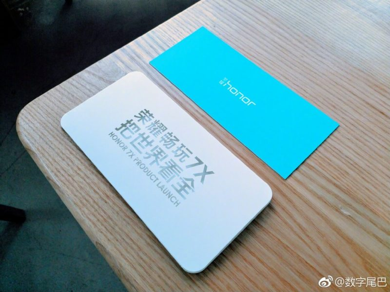 honor 7X fuite images