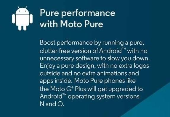 motoroloa moto G4 android oreo