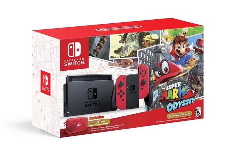 nintendo switch super mario odyssey bundle pack console jeux vidéo