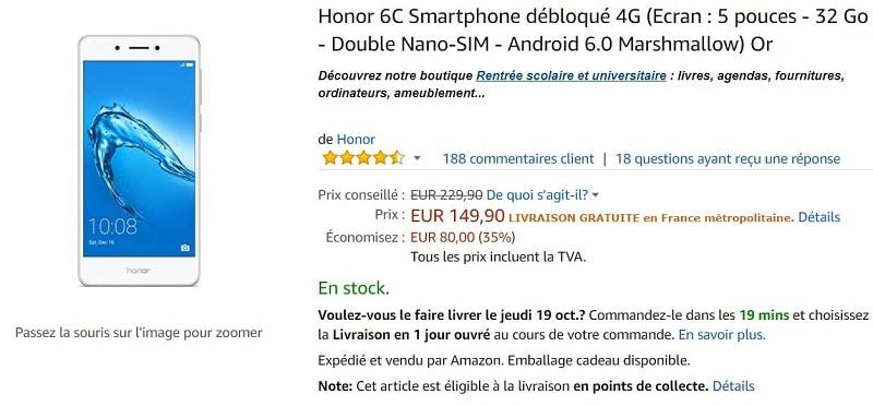 Honor 6c amazon