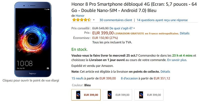 Honor 8 pro amazon
