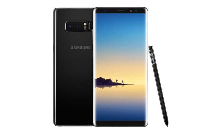 Samsung galaxy note 8 midnigt black