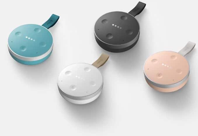 tichome mini un google home mini avec batterie et r sistant aux claboussures. Black Bedroom Furniture Sets. Home Design Ideas