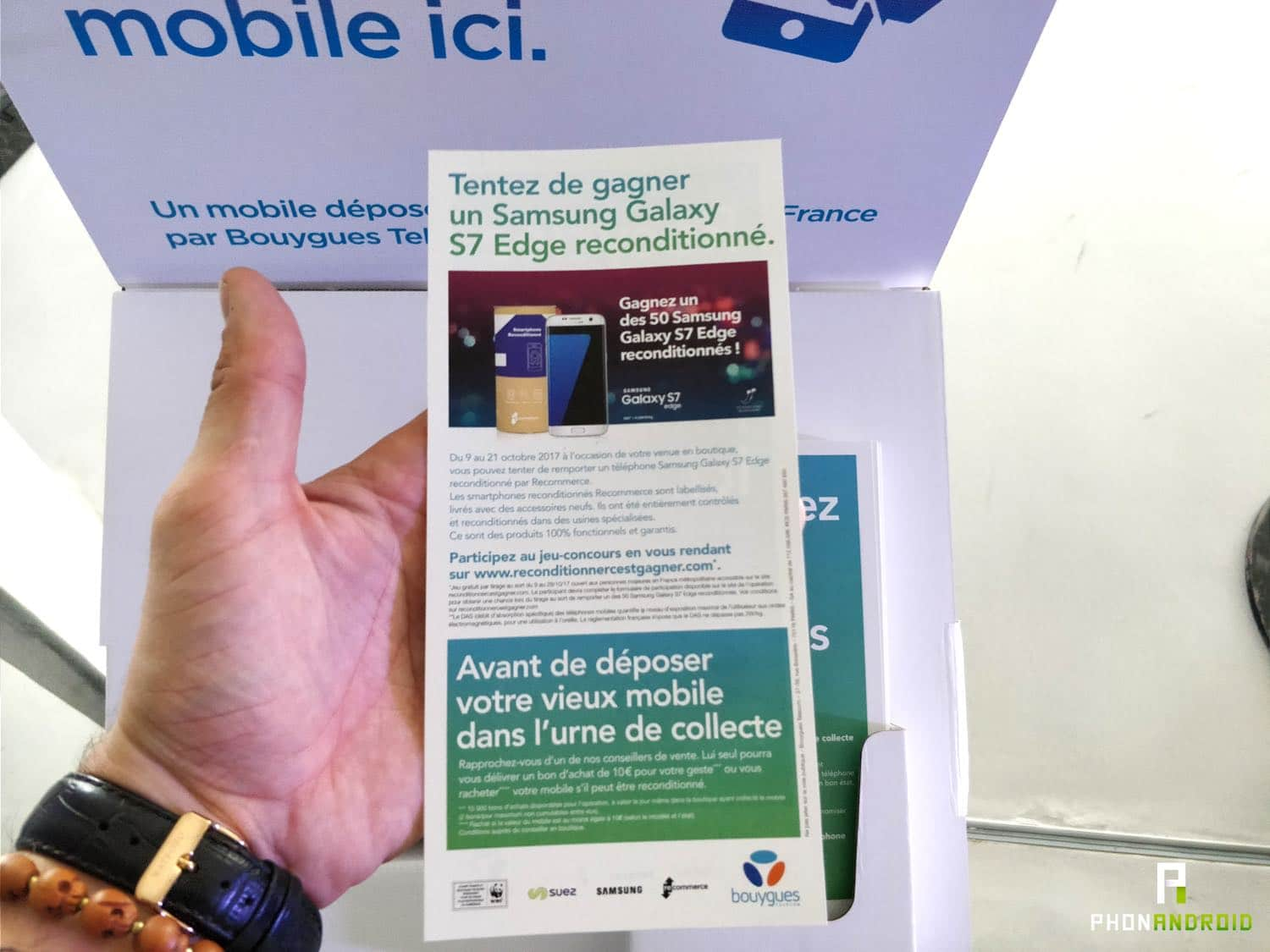 bouygues recyclage concours samsung