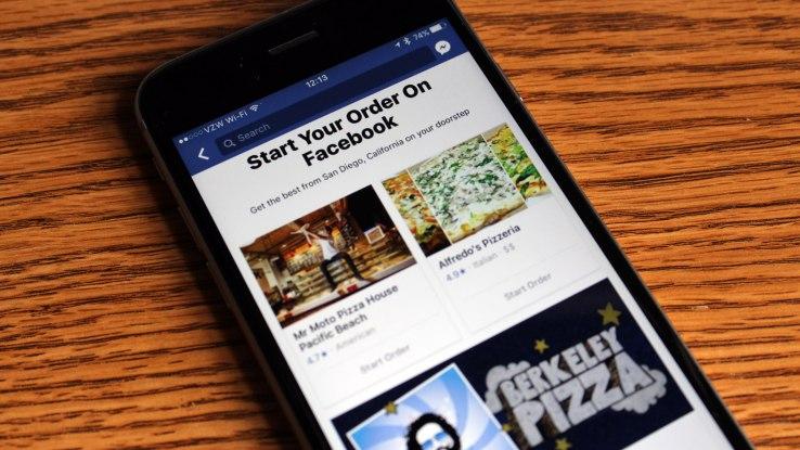 facebook livraison nourriture