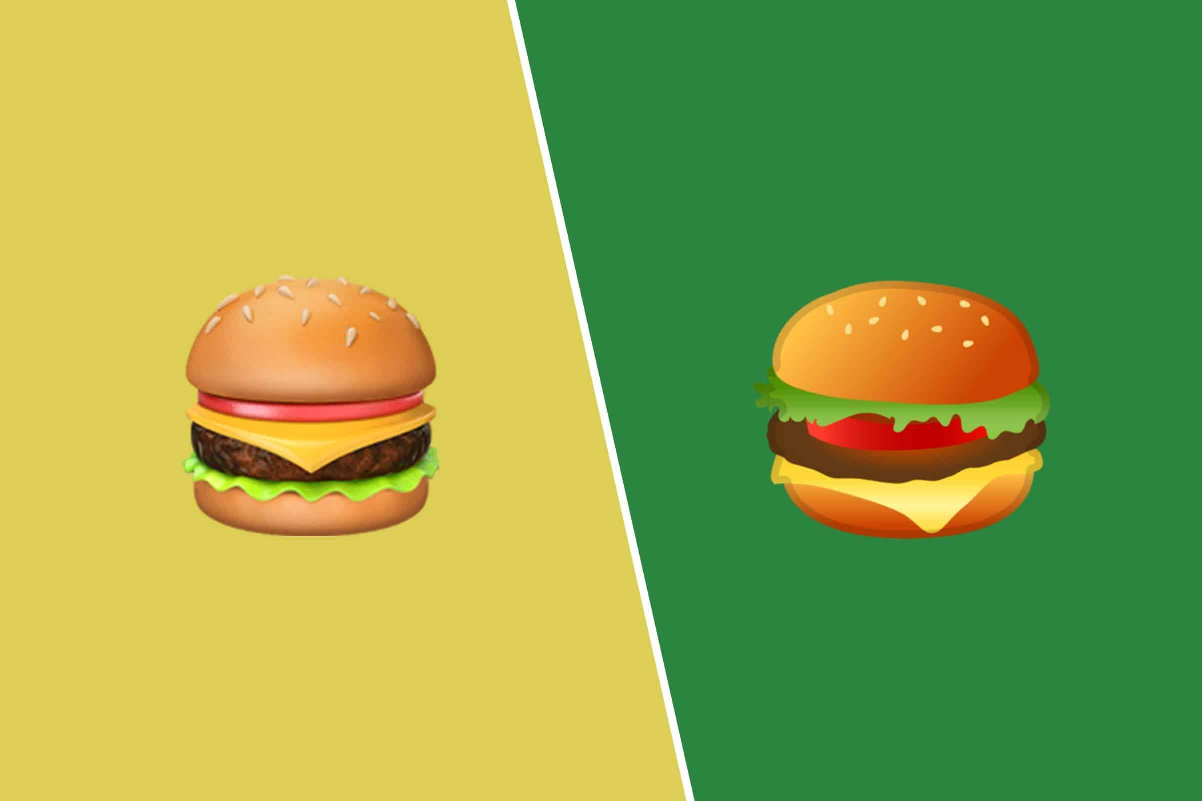 google apple hamburger emoji